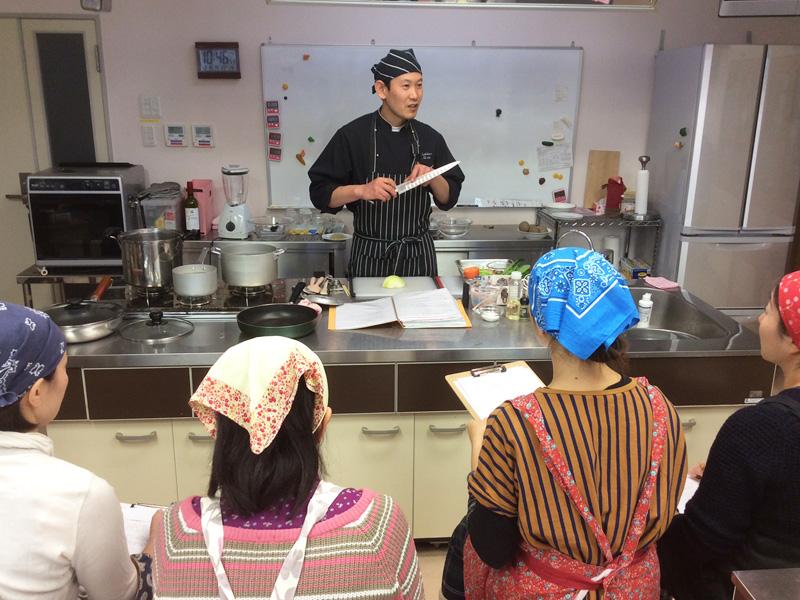 ペッシェアズーロの料理教室
